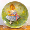 "Reco Little Miss Muffet Collector Plate 1981 Collector's Plate.  Plate # 4698 H.  An authentic original in the limited edition of Plate 3, (ended forever in 1981), in the Mother Goose series. This adorable plate is 8 1/2"".  Plate only.  <b>$20</b>"