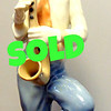 Acclaimed Tengra Ceramic Clown Made in Spain. 9-Inches tall.  <b>$65</b>