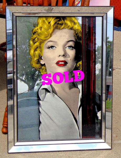 Unique Hard-to-Find Marilyn Monroe Wall Mirror.  22 1/2 x 30.  <b></b>