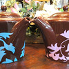 Brown Ceramic Pour Pots.  Blue or Pink Accent.  14 x 9.  <b>$15 each</B>