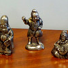 Set of 5 Small Ancient Chinese Pewter Figurines.  Sizes: 2-Inch & 2 1/2 inches.  <b>$85</b>