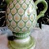 Uniquely Designed & Colored Ceramic Pitcher.  9 x 5 x 9.  <b>$15</b>