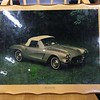 Extremely Hard-to-Find Vintage <i>Showroom Posters</i> 1962 Corvette in Frame.  Preserved on frame.  A true collector's piece.  20 x 16.