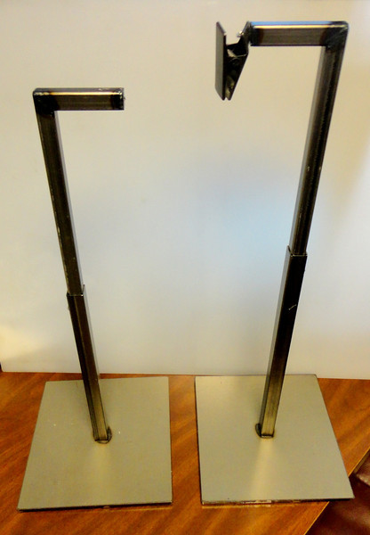 Retail Small Accessory or Hat Display Stand.  9 x 9 x 13 to 22 (adjustable).  <b>$20</b>