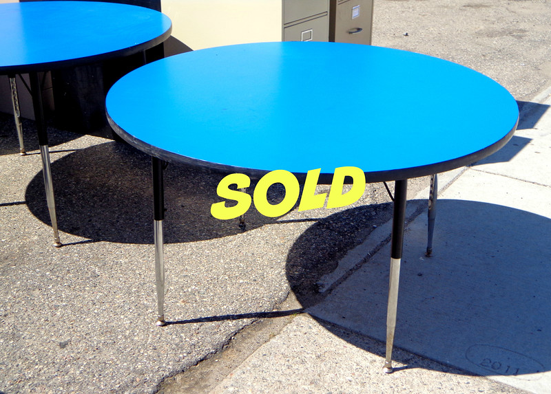 Versatile 48-inch Adjustable Height Utility Table / Cafeteria Table in Very Good Condition.  <i>Two available.</i>   <b>$95 each</b>