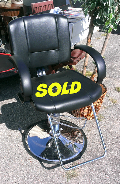 Professional Salon Chair in Excellent Condition. <b>$150</b>