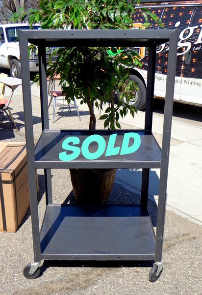 Tall Commercial Grade AV Cart.  32 x 24 x 64.  <b>$50</b>