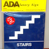 "Kroy Brand 8 x 8 Blue <i>Stairs</i> Signs. * New in original packaging  * ADA Approved Regulatory Sign * Durable and tough injection-molded ABS plastic * 8"" x 8"" Tactile/Braille Sign * 4 Self-stick adhesive squares for mounting.   <i>Price Anywhere Else New: $16.  </i> <b>Fred's Price New: $8</b>"