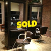 Set of 2 Premium Bradford Double Salon Stations with 4 Vanelle All Purpose Chairs.  Configuration shown accommodates 4 stylists.  Each stylist has 2 drawers, tip out tool panel, power strip, glass shelves, crown molding on top, purse ledge.  Includes mirrors, shelves, lights, molding and legs as pictured.  36 x 18 x 90.  <b></b>