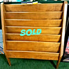 Vintage Solid Wood Magazine Rack.