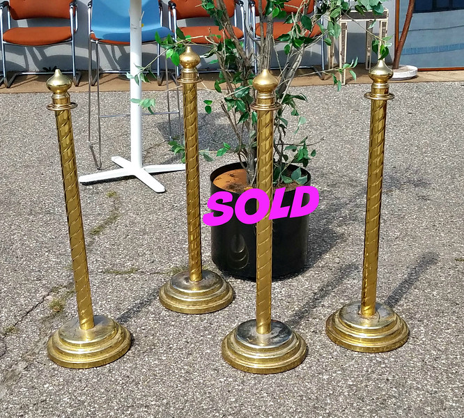 Brass Rope Barrier Posts