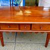Vintage Solid Wood Desk.  51 x 31 x 29.  <b>$350</b>