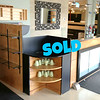 Versatile Hospitality or Reception Counter with Product Display Shelving in Excellent Condition.  <b>$495</b>