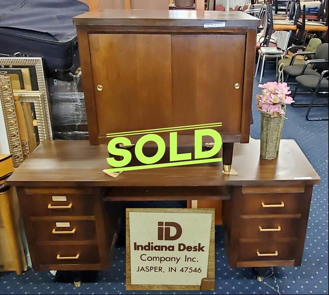 Mid Century Desk and Credenza Set