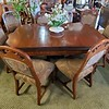 Victorian Dining Table Set for 6