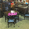 <b>Available at our Livernois Store Location - (313) 345-0884. </b>   Fabulous Jacobean Dining Room Set for 6 with Mirrored Server & China Cabinet.  Newly upholstered chairs.  Extra nice.  This uniquely styled Victorian dining room set ranks among the best we have seen at our stores.  The server features a hard-to-find mirrored back server buffet and all of the pieces are structurally sound and in exceptional condition.  If you've been waiting for that special classic dining room  set to grace your fine home, then wait no longer.  <b>$1,150</b>