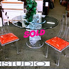 H. Studio / Muniz Spiral Dining Room Table Set