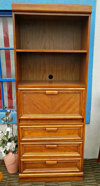 Wood Secretary Bookcase