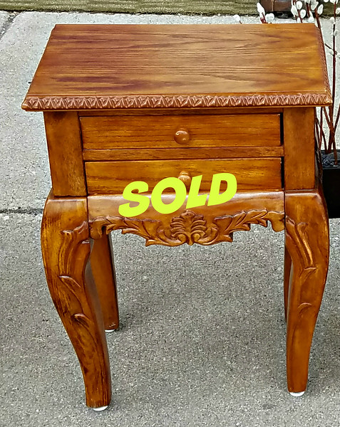Carved Wood Nightstands