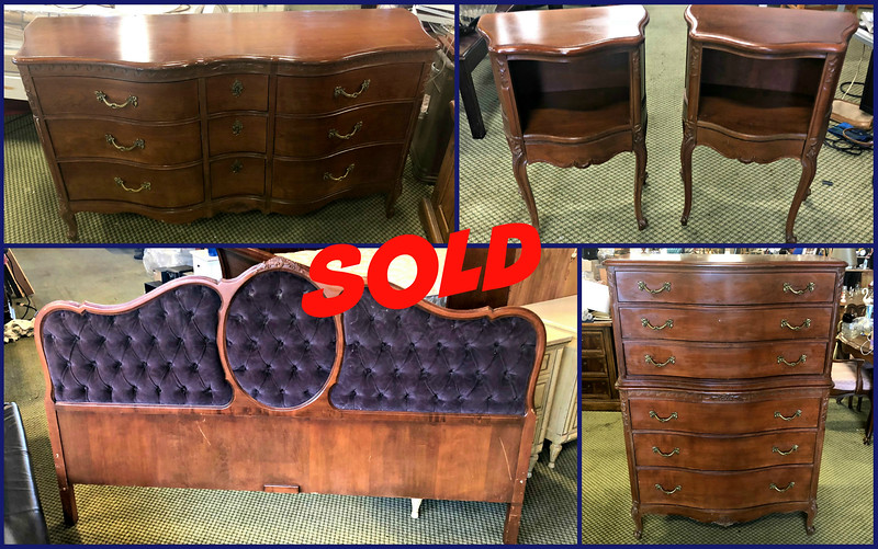Vintage Drexel King Bedroom Set
