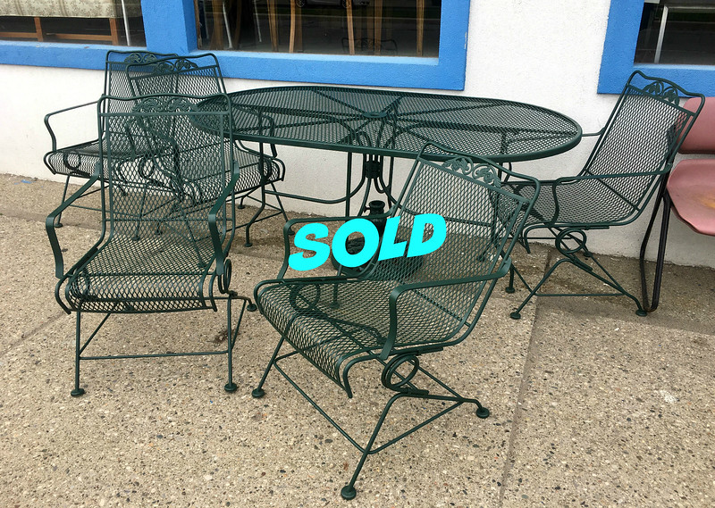 Wrought Iron Patio Set.