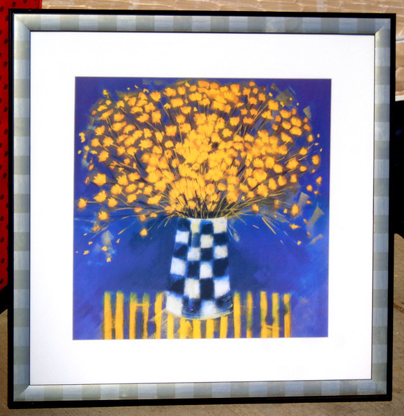 Hotel Art You Can't Live Without.  This piece is so beautiful and intriguing that you may want to put one in every room of your house.  We have a nice inventory of these at the moment.   26 1/2 x 27.  <b>$30</b>