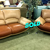 <b>Available at our Livernois Store Location - (313) 345-0884. </b>Contemporary Top Quality Italian Leather Sofa and Sofa Chair Set in Excellent Condition.
