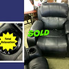 <b>Available at our Livernois Store Location - (313) 345-0884. </b> Black Motion Massage Recliner with Cup Holders.