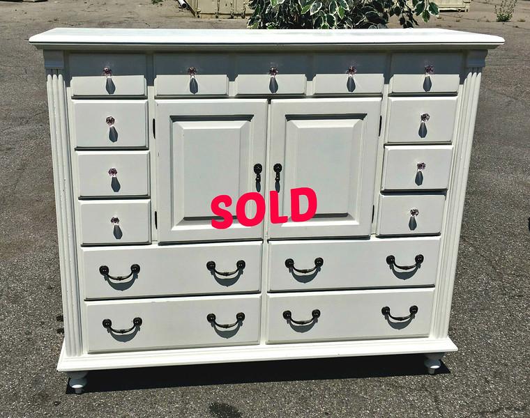 Spacious White Dresser