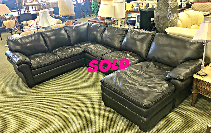Expresso Sectional Leather Sofa