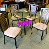 Glass Top Dinette Set