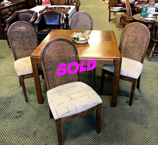 Cane Back Dining Set