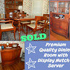 "<b>Available at our Livernois Store Location - (313) 345-0884. </b>  Rare Premium Quality <i>Morganton</i> Dining Room Set with Display Hutch and Server in Excellent Condition.  Morganton Furniture has been associated with furniture ""Made in USA"" since the 1940's.  They have a reputation for quality construction and enduring style.  This wonderful set also features a display hutch and server.  Everything is in top notch condition."
