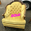 Tufted Provincial Parlor Chair