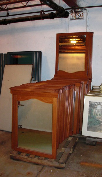 <b>Available at our Livernois Store Location - (313) 345-0884. </b>  Beautiful Used Mantle or Hallway Mirror in Medium Wood Color.  These elegant mirrors would look terrific over a hearth or in a hallway area.  The units measure 32 x 40 x 2 and are in very good condition.  Take a look at other options and you'll quickly realize that our prices and quality cannot be beat.  Buy one if you are a homeowner or consider buying more if you intend to furnish multiple units.  We have what you need.  <b>$30</b>
