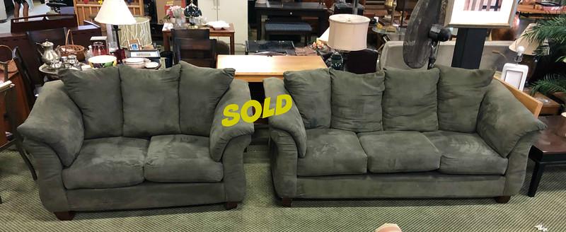 Microfiber Sofa and Love Seat