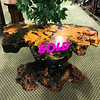 <b>Available at our Livernois Store Location - (313) 345-0884. </b>  Unique Cyprus Wood Coffee Table in Excellent Condition  You'll pay hundreds more if you try and find anything as unique and stylish as this remarkable Cyprus wood coffee table.  It's in great condition.   Exquisite quality and construction.     <b>$495</b>