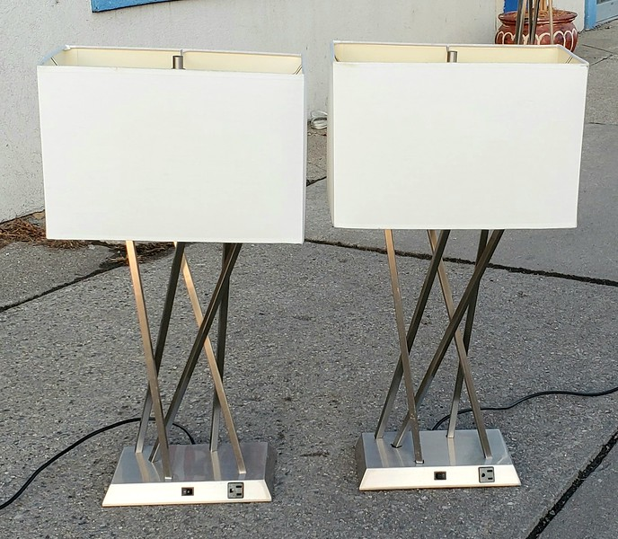 Brushed Metal Table Lamps