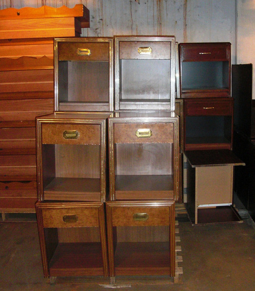 """Large Selection of Liquidated Nightstands. They're in nice condition and are very affordable.  These units measure 19"""" x 24"""" x 19, but there's plenty of other models to choose from all at similar liquidation savings. <b>$25</b>"""