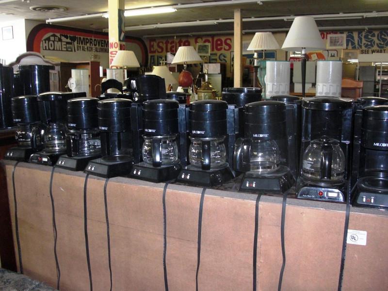 """""""Mr. Coffee"""" 4-Cup Coffee Makers.  <b>$5</b>"""
