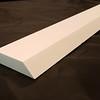 Extra-Long Grecian Thassos Marble Baseboard