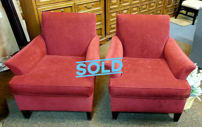 Maroon Lounge Chairs