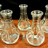 Single Shot Glass Liqueur Decanters in Excellent Condition.  <b></b>