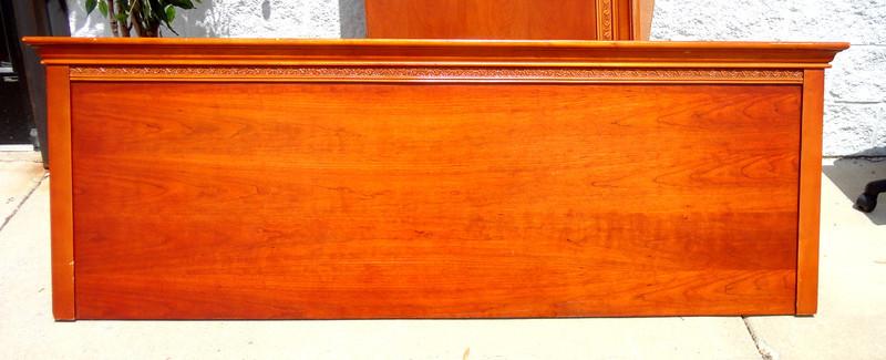 Beautiful Impressively Styled Wood King Headboard.  82 x 29.  <b>$85</b>