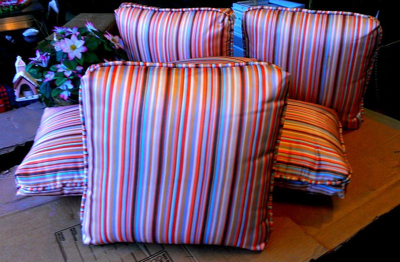 NEW!!  Premium Stripe Accent Pillows.  17 x 17.  <b>$10 each.</b>