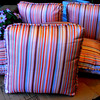 NEW!!  Premium Stripe Accent Pillows.  17 x 17.  <b>$10 each.</b>