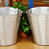 Polished Nickel Waste Baskets