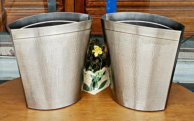Polished Nickel Waste Baskets