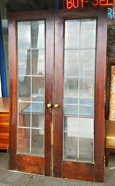Leaded Glass French Doors.