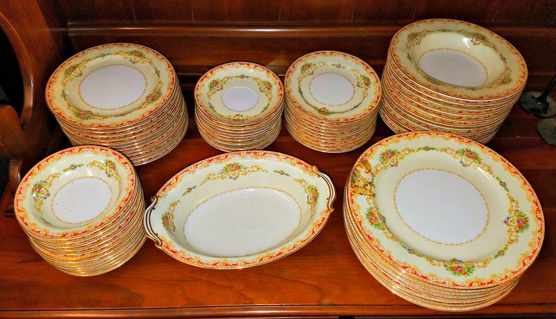 Rare Vintage <i>Noritake</i> Occupied Japan China Set.  Approximately 60 pieces.  <b>$125</b>